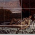 Courbet Nudes Mural Shower Wall Bathroom Remodeling Traditional