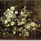 Courbet Flowers Tile Room Mural Dining Wall Remodel Commercial