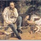 Courbet Men Shower Wall Wall Murals Modern Renovations Interior