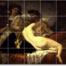 Couture Nudes Room Dining Tile Wall Idea Home Remodeling Design