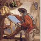 Couture Men Dining Room Tiles Wall Mural Home Idea Construction