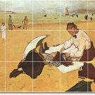 Degas Waterfront Backsplash Tile Kitchen Wall Mural Commercial