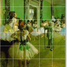 Degas Dancers Tile Room Mural Design Idea Remodeling Commercial