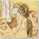 Degas Illustration Murals Dining Tile Room Design House Decor