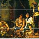 Delacroix Women Tiles Dining Room Mural Residential Remodeling