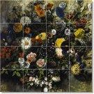 Delacroix Flowers Wall Bathroom Murals Shower Design Decor Floor