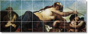 Delacroix Women Room Living Mural Tile Renovate Interior Decor