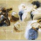 Delacroix Illustration Wall Mural Shower Renovate House Decor