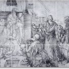 Durer Illustration Backsplash Wall Mural Interior Design Modern
