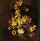 Fantin-Latour Flowers Murals Bedroom Idea Interior Renovations