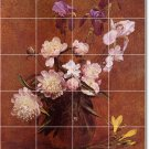Fantin-Latour Flowers Wall Wall Murals Shower Decor Decor Home