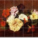 Fantin-Latour Flowers Bedroom Floor Murals Wall Decor Interior