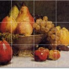 Fantin-Latour Fruit Vegetables Mural Room Tile Dining Modern Home