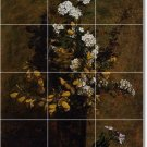 Fantin-Latour Flowers Mural Backsplash Tile Wall Floor Design