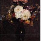 Fantin-Latour Flowers Tiles Room Mural Dining Wall Art Modern