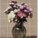 Fantin-Latour Flowers Tiles Mural Room Wall Mural Floor Decor