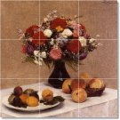 Fantin-Latour Flowers Tiles Room Floor Dining Modern Home Art