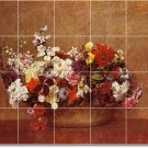 Fantin-Latour Flowers Murals Living Floor Room Remodel Design