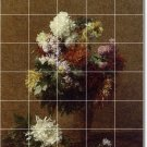 Fantin-Latour Flowers Shower Tile Mural House Modern Remodel