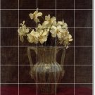 Fantin-Latour Flowers Mural Shower Wall Renovate Decor House
