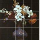 Fantin-Latour Flowers Mural Wall Shower Decor House Renovate
