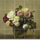 Fantin-Latour Flowers Bathroom Wall Tile Ideas Renovate Home