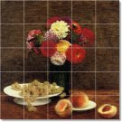 Fantin-Latour Fruit Vegetables Murals Tile Dining Room Art Modern