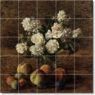 Fantin-Latour Flowers Mural Shower Home Renovations Decorate
