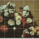 Fantin-Latour Flowers Tile Room Living Murals Design Remodel