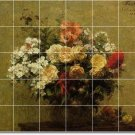 Fantin-Latour Flowers Tile Mural Bedroom Construction Modern