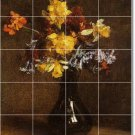 Fantin-Latour Flowers Mural Room Dining Tile Wall Decor Home