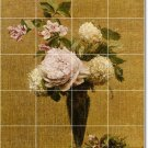 Fantin-Latour Flowers Wall Tile Bathroom Shower Murals Floor