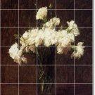 Fantin-Latour Flowers Kitchen Tile Mural Modern Floor Design