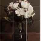 Fantin-Latour Flowers Tile Dining Mural Room Renovate Design