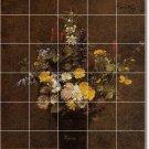 Fantin-Latour Flowers Tile Room Dining Mural Design Renovate
