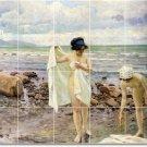 Fischer Nudes Mural Tile Room Idea Remodeling Commercial Design