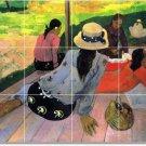 Gauguin Women Tiles Mural Backsplash Kitchen House Design Decor