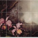 Heade Flowers Tile Backsplash Mural Wall Kitchen Design Modern