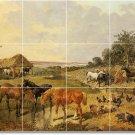 Herring Horses Mural Kitchen Tile Backsplash Modern Design Floor