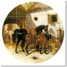 Herring Horses Living Tiles Room Remodeling Traditional Interior