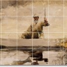 Homer Waterfront Living Mural Room Wall Tiles Home Decor Remodel