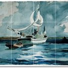 Homer Waterfront Mural Tile Dining Wall Room Modern Home Remodel