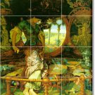 Hunt Mythology Room Murals Tile Dining Traditional House Remodel