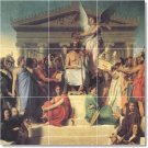 Ingres Historical Mural Shower Tile Bathroom Renovate Home Ideas
