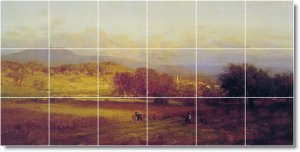 Inness Landscapes Kitchen Floor Mural Home Decorate Construction