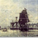 Jongkind Ships Bedroom Mural Wall Tiles Traditional Construction