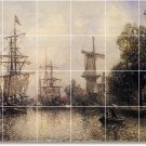 Jongkind Ships Dining Wall Tiles Room Mural Renovate Traditional