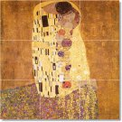 Klimt Abstract Tiles Living Room Wall Mural Home Remodeling Idea