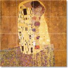 Klimt Abstract Tiles Living Room Mural Wall Home Idea Remodeling