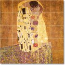 Klimt Abstract Tiles Living Wall Room Mural Remodeling Home Idea